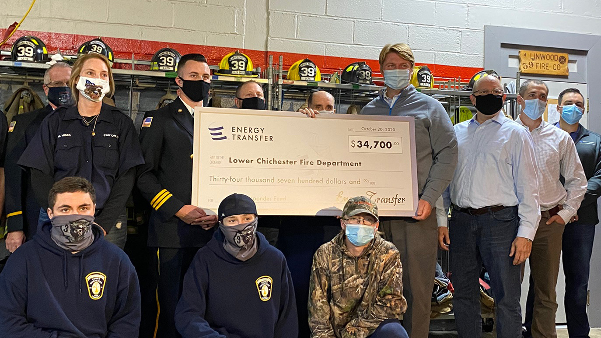SP20 xxxxxx Chichester - Energy Transfer Awards More Than $1 Million in Pennsylvania First Responder Grants